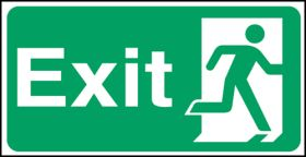 Exit man right. 150x300mm S/A