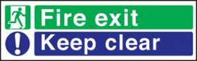 Fire exit keep clear 2 colour 150 x 450 P/L