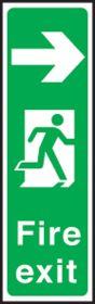Portrait fire exit left. 450x150mm S/A