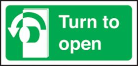 Turn left to open left. 100x200mm S/A