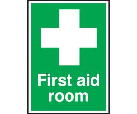 First Aid Room Sign 150x100mm Self Adhesive
