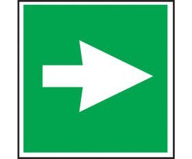 Green First aid arrow sign - 100x100mm - Semi-rigid Polypropylene or Self-adhesive Vinyl