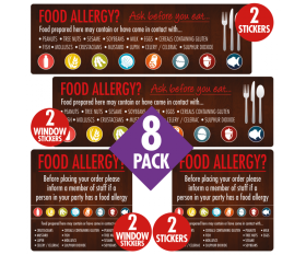 Food Allergy Awareness Pack 8 Signs - FAN005