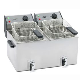 Roller Grill FD80DR Double Tank Fryer 8L with Drain Tap