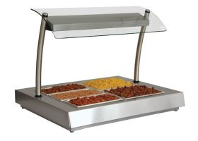 Counterline FHBM2 Heated Display Unit - Bain Marie with Overhead Quartz Halogen Lights