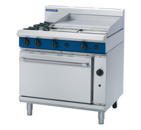 Blue Seal G506B - Gas Range - 2 Burner With 600mm Smooth Griddle - Natural Gas