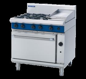 Blue Seal G506C - Gas Range - 4 Burner With 300mm Smooth Griddle - Natural Gas