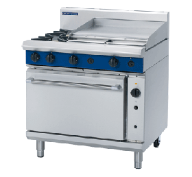 Blue Seal Evolution G56B - Gas 2 Burner Range, 600mm Griddle with Gas Convection Oven 900mm