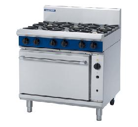 Blue Seal Evolution G56D - Gas 5 Burner Range with Gas Convection Oven 900mm - Natural Gas