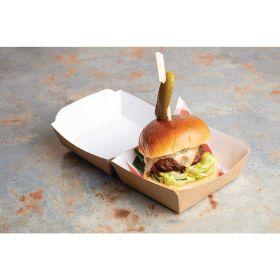 Compostable Kraft Burger Boxes Standard 108mm - Pk 250