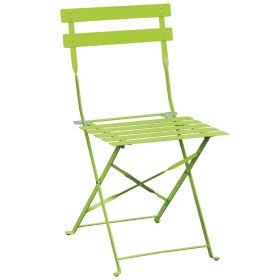 Bolero Pavement Style Steel Chairs Green  (Pack of 2)   GH552