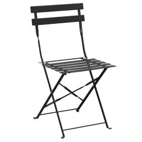 Bolero Pavement Style Steel Chairs Black (Pack of 2)  GH553