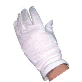 White Cotton Gloves (10 Pairs) - Genware