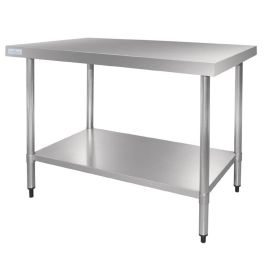 Vogue Stainless Steel Prep Table 1200mm - GJ502 - 1200(W) x 700(D) x 900(H)mm