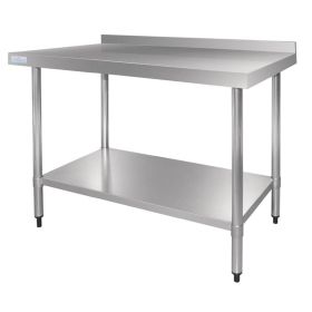 Vogue Stainless Steel Table with Upstand 1200mm - GJ507 - 1200(W) x 700(D) x 900(H)mm