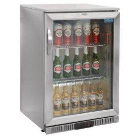 Polar GL007 - Bar / Bottle Cooler Fridge - Silver 138 Litres