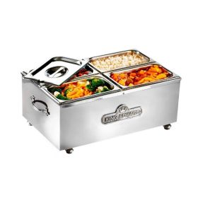 King Edward BM2V/SS - Wet or Dry 1/1 GN Traditional Bain Marie - Stainless Steel