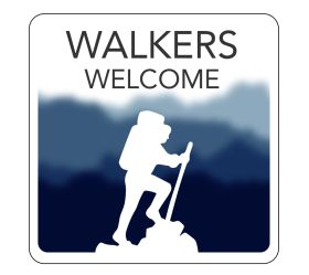 Walkers Welcome Hospitality Window Sticker. 150x150mm