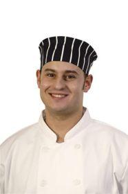 Chef's Skull Cap Butchers Stripe