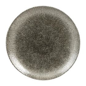 Churchill Studio Prints Raku Round Coupe Plates Quartz Black 260mm - HC768 - pk 12