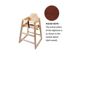 Wooden High Chair - Dark Wood - Genware