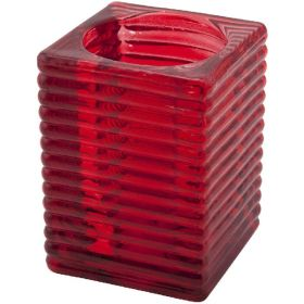 Genware - 'Highlight' Candle Holder Red (6Pcs)