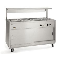 Parry HOT12BM - Electric Hotcupboard with 3 x 1/1 gn Bain Marie Top