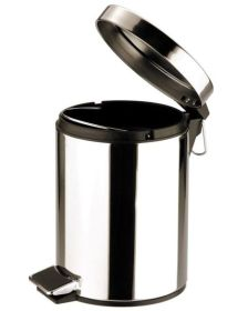 Pedal Bin Round Mirrored Stainless Steel - 12 Ltr