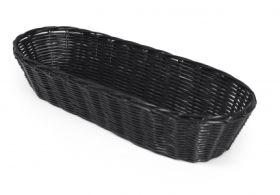 "Rattan Loaf Basket 15x38cm /15x6"" Black"