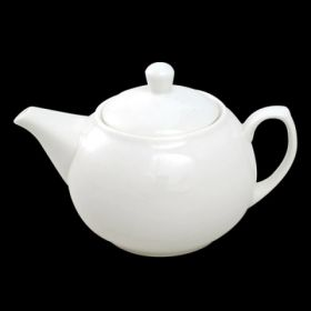2 to 3 Cup Ball Teapot White Porcelain 450ml / 15¾oz - Orion C88135