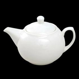 4 to 6 Cup White Teapot Porcelain 1 Ltr / 35oz - Orion C88136