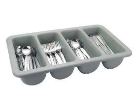 Plastic Cutlery Tray Grey