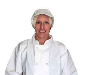Chef's White Net Peaked Cap