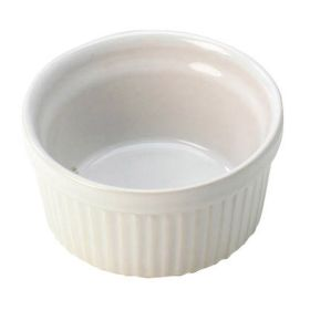 White Souffle Dish Ceramic 15 x 6.5cm / 0.75 Ltr