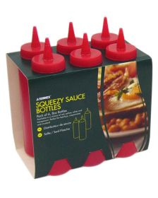 Sauce Bottle Red 8oz Pack 6