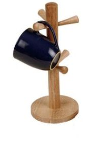 Wooden 6 Mug Holder