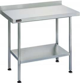 Lincat L6015WB Stainless Steel Wall Table - W1500 x D600 x H900mm