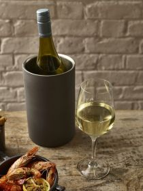 Iron Effect Wine Cooler 12cm Dia x 20cm High - Genware 003RN