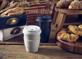 Grey Reusable Bamboo Fibre Coffee Cup 35cl/12.25oz