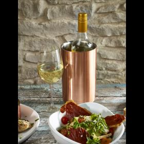 Copper Wine Cooler 12cm Dia X 18cm High - Genware 003C