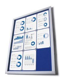 4 x A4 Economy Wall Mounted Lockable Felt Notice Board. (State felt colour)