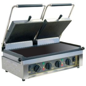Roller Grill MAJESTIC L - Ribbed Top & Flat Base Plates