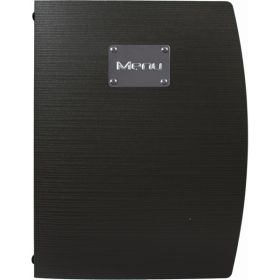 Rio A4 Menu Holder Black 4 Pages