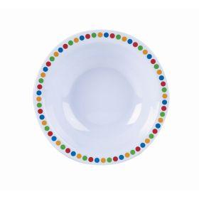 "Genware Melamine 6"" Bowl- Coloured Circles"