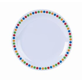"Genware Melamine 6.25"" Plate- Coloured Circle"
