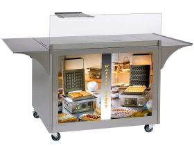 Roller Grill MG-02 - Mobile Stainless Steel Servery Cart
