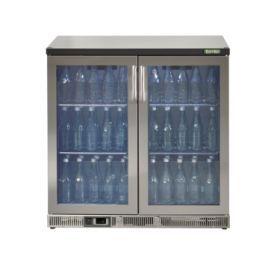 Gamko Maxiglass MG2/250G - Double Door Bottle Cooler S/S