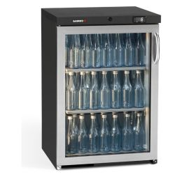 Gamko Maxiglass MG3/150LGCS 150L Single Door Bottle Cooler SS - Left Hinged