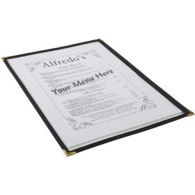 American Style Clear Menu Holder - 1 Page - Genware