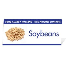 "Allergen Warning Buffet Tent Notice ""This Product Contains Soybeans"" BT0010"